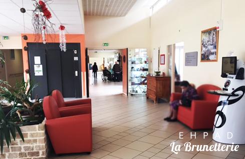 L'accueil avec la borne musicale - La Brunetterie