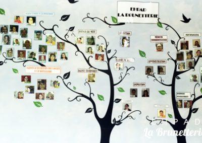 Arbre généalogique de l'ehpad - La Brunetterie