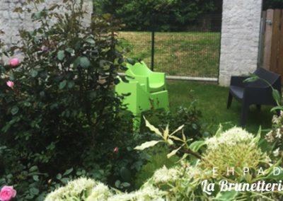 Le jardin de l'ehpad - La Brunetterie