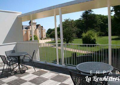 Vue de la terrasse - La Brunetterie