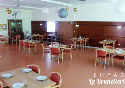 Salle à manger de l'ehpad - La Brunetterie