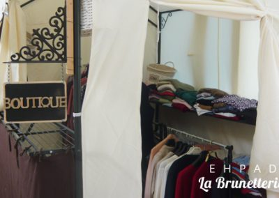 La boutique de vêtements - La Brunetterie