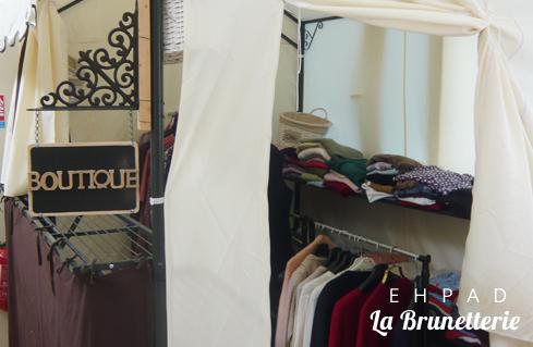 La boutique de vêtements - La Brunetterie